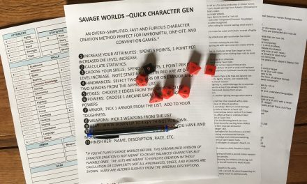 FURIOUSLY FAST SAVAGE WORLDS CHARACTER GENERATION